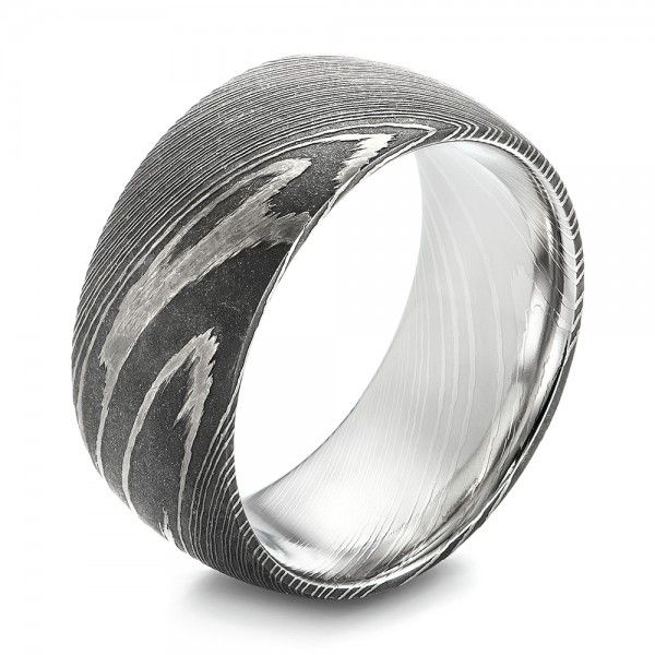 Damascus Steel Mens Wedding Ring Damascus steel Damascus and Steel