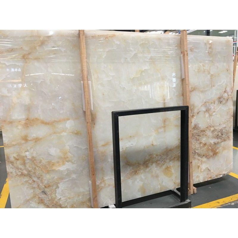 China Crystal Gold Vein White Onyx Slab China Supplier Stone2buy