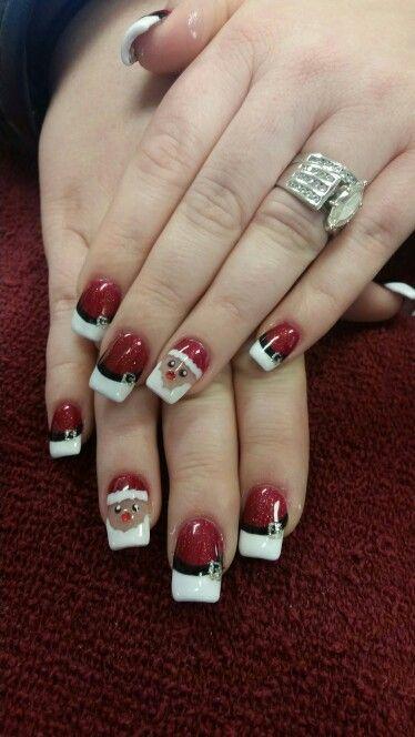 Santa baby santa nail art nailart christmas