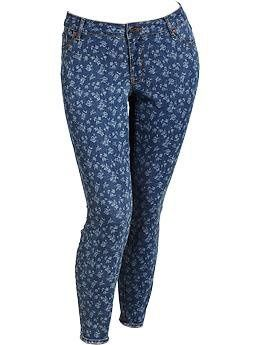 Women's Plus The Rockstar Floral Printed Jeans on InStores
