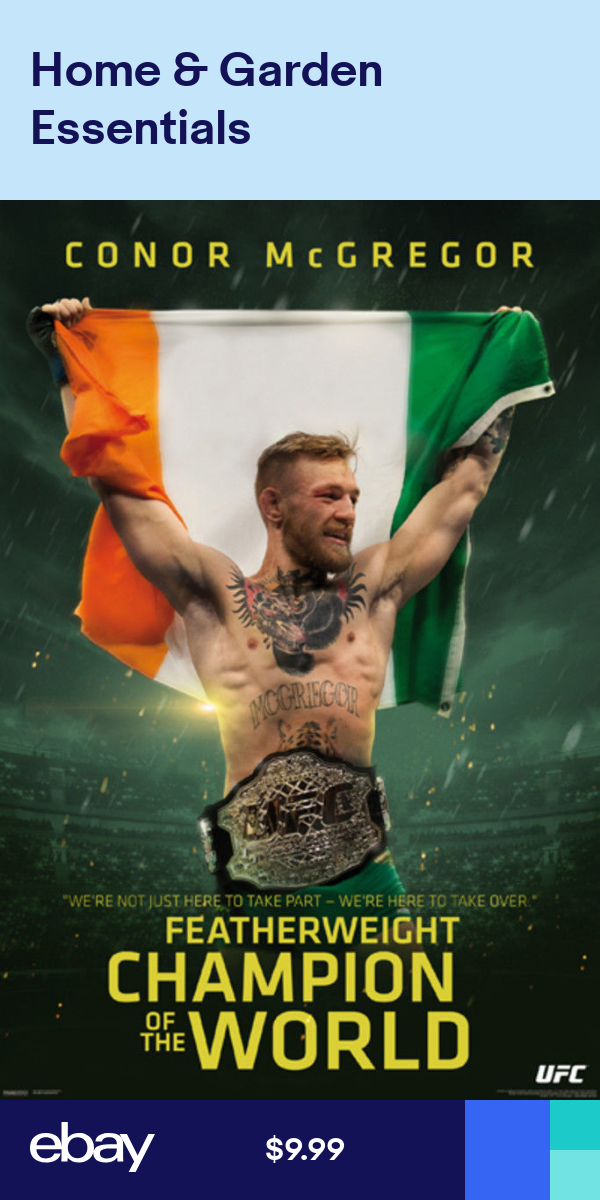 Ufc Conor Mcgregor Fetherweight Champion Of The World Sports Poster 24x36 Conor Mcgregor Wallpaper Conor Mcgregor Poster Sport Poster