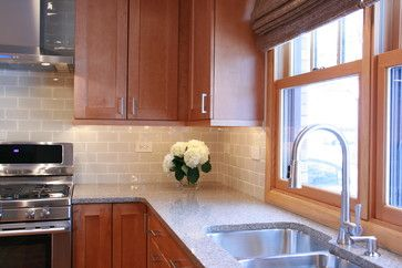 Nice Tiles Kitchen Design Brown Cabinets Kitchen Renovation