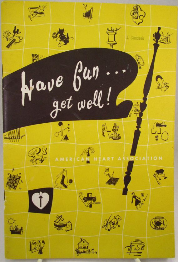 Vintage Booklet Have Fun Get Well by SpiralCreations on Etsy