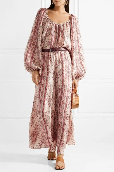 6e3de15576f0d Mes Demoiselles Borat Printed Washed-silk Blouse - Antique rose in ...