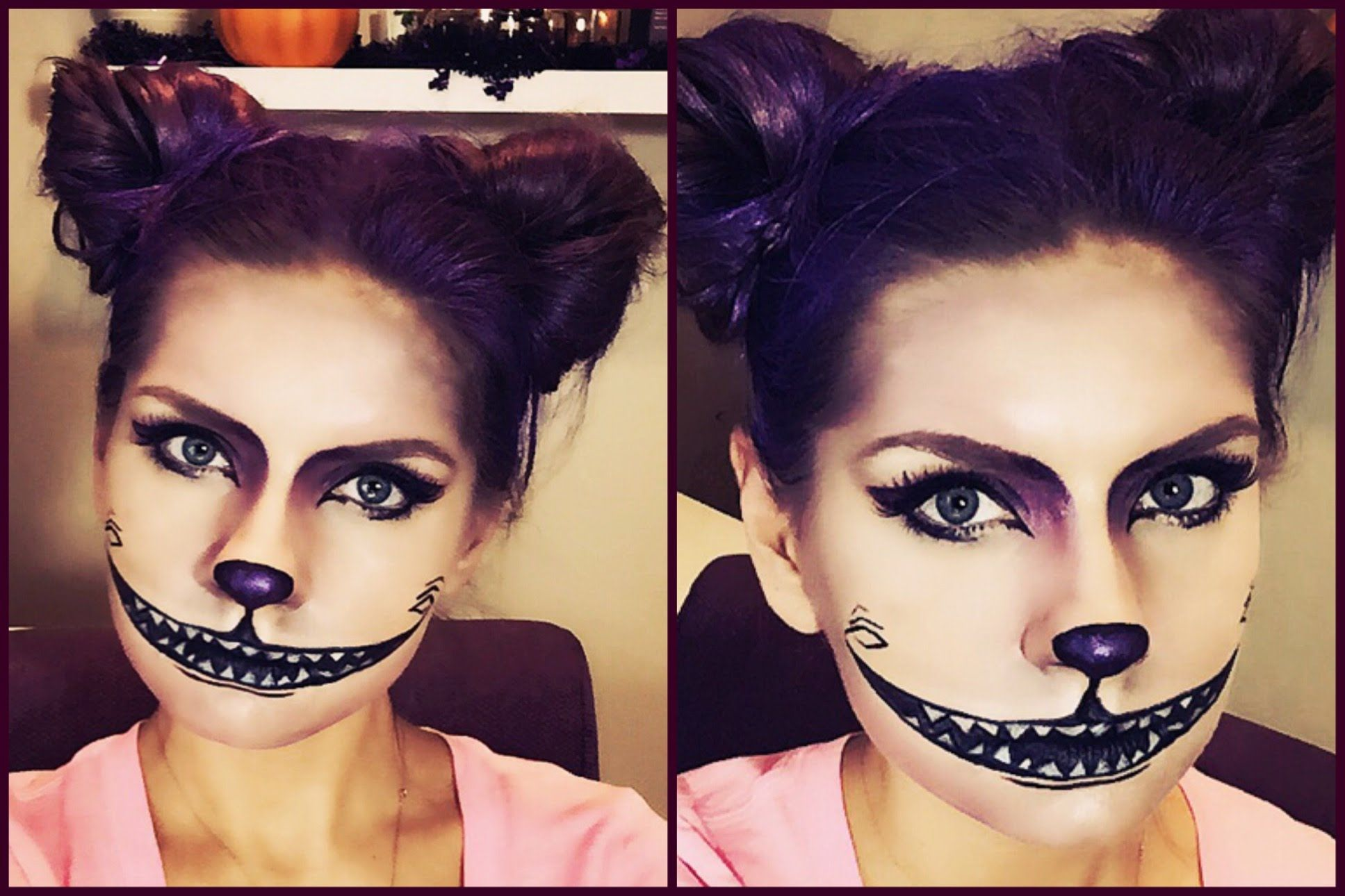 Pin By Kateryna Fabian On Costumes Pinterest Halloween Makeup - Cheshire-cat-makeup-tutorial-you