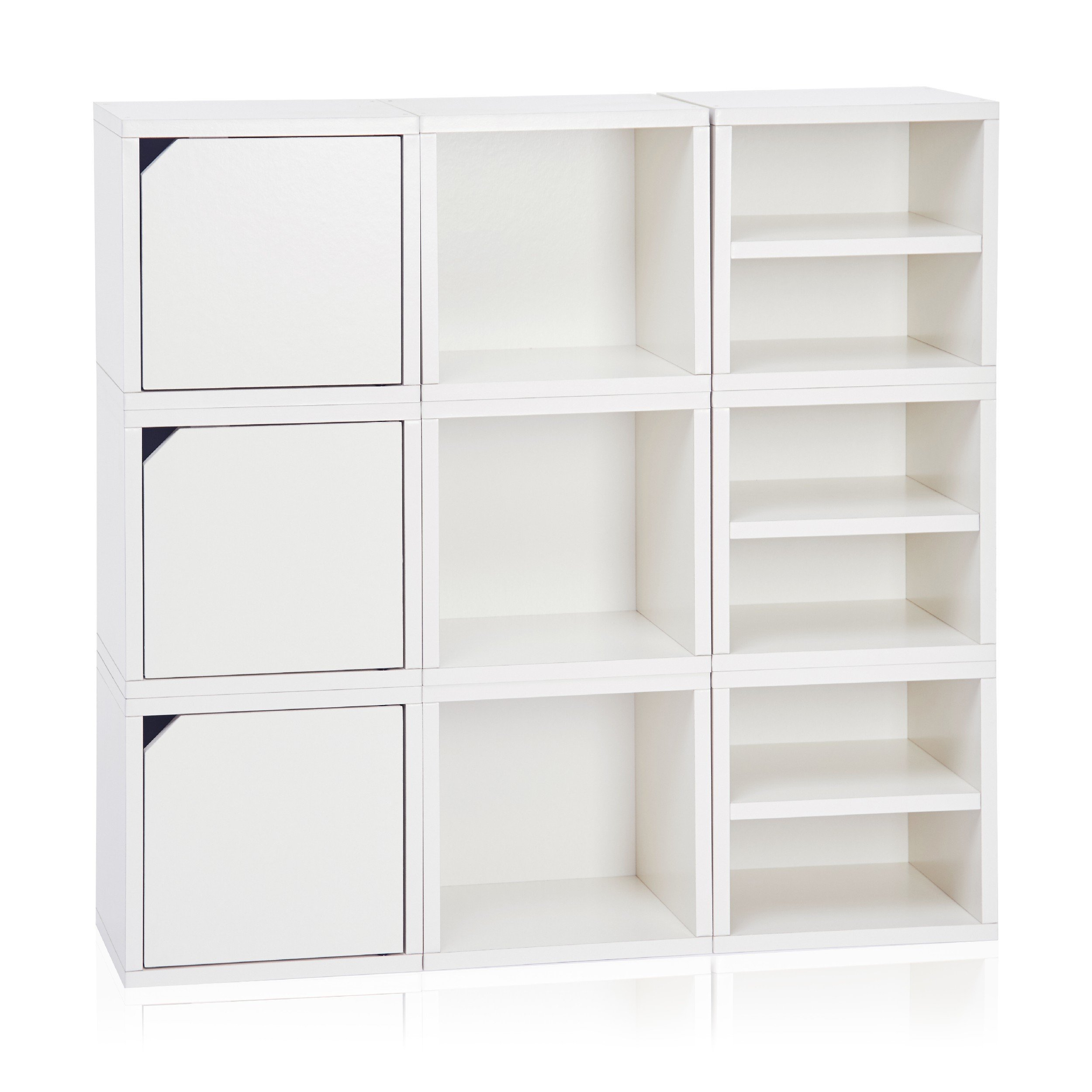 Connect 9 Cube White Pre Order Ships 10 26 In 2020 Cube Storage Shelves Cube Storage Modular Storage