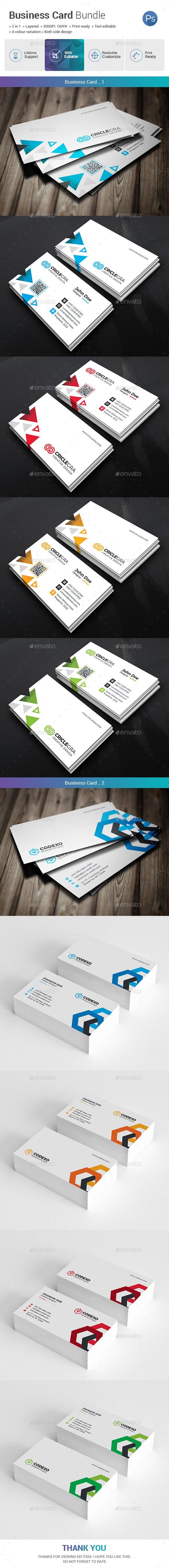 Business card bundle 2 in 1 business cards print templates and business card bundle 2 in 1 reheart Choice Image