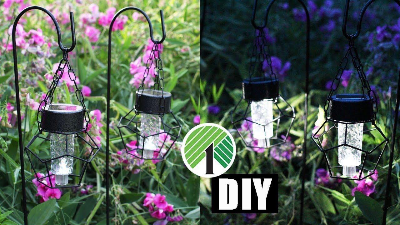 DIY DOLLAR TREE SOLAR LANTERN LIGHTS Summer Outdoor Home