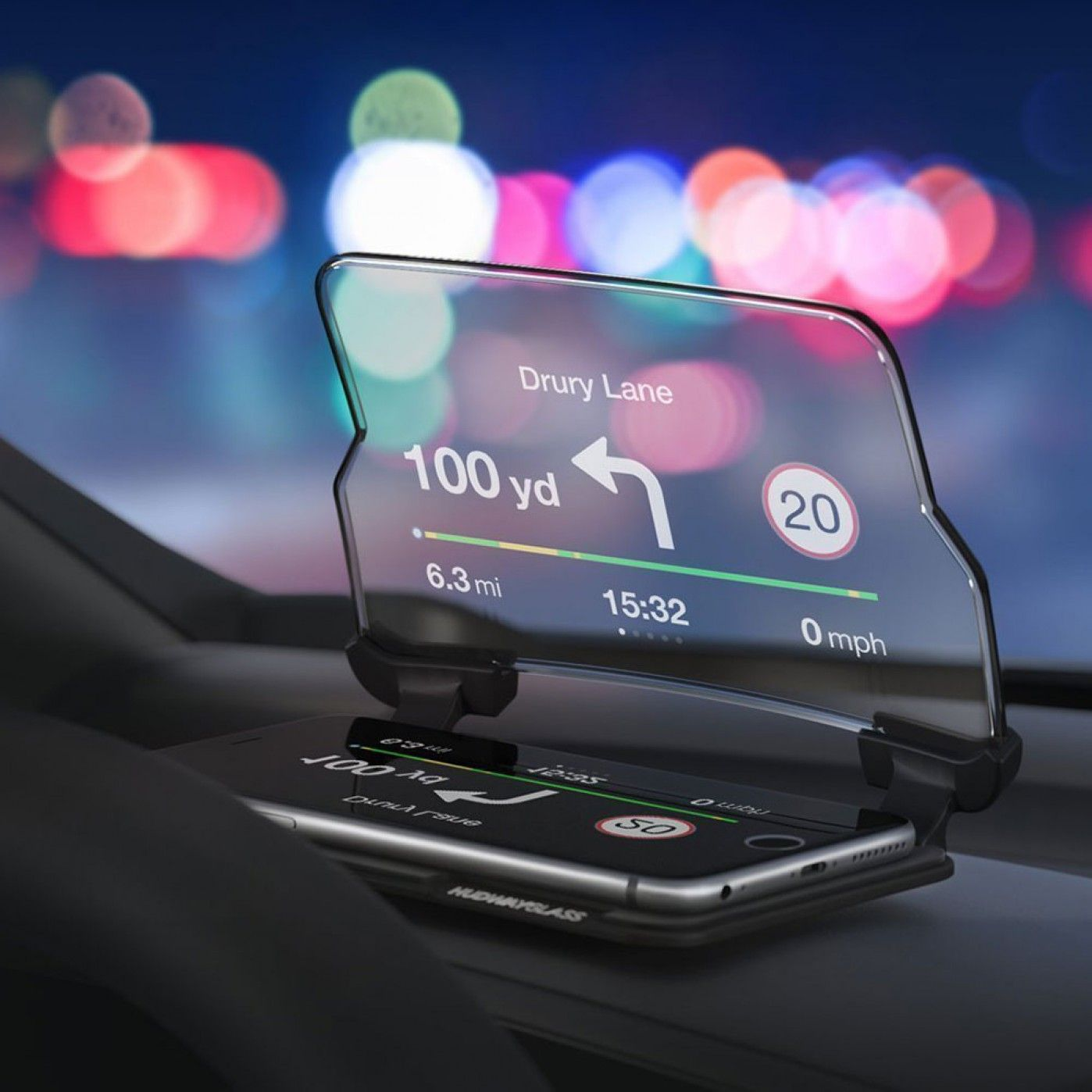 hudway head up display f r smartphones geschenktipps. Black Bedroom Furniture Sets. Home Design Ideas