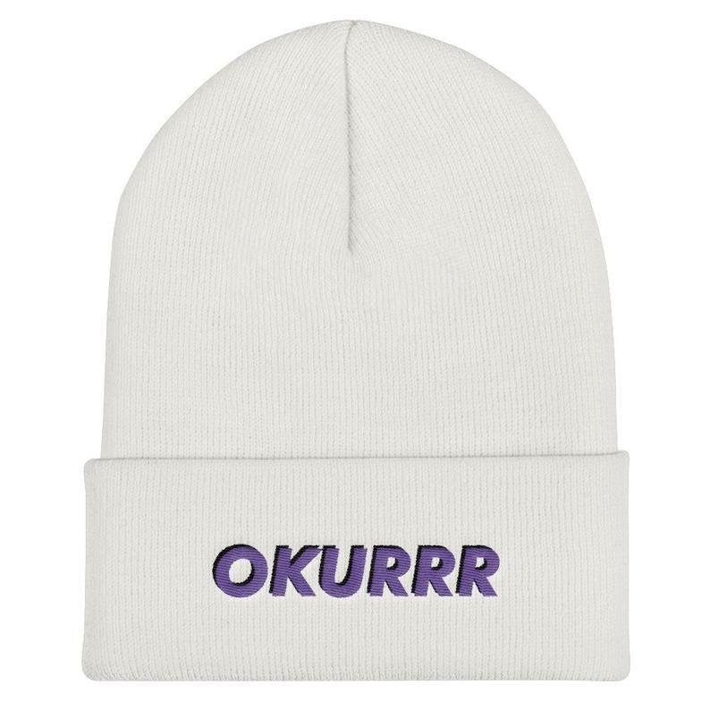 Cardi B Okrrr: Okrrr Logo Embroidery Cuffed Beanie Supreme Beanie Cardi B