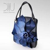 Photo of Leather Tote Bag   Shoulder Bag   Designer Tote Bag   Leather Bag Magnolia  Flow…