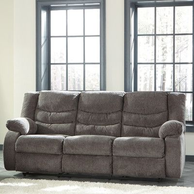 Loon Peak Ridgemont Reclining Sofa Upholstery Gray Products