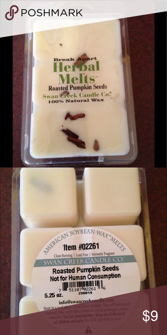 Roasted pumpkin seed !! Roasted pumpkin seed wax melts. These smell amazing and are very very strong. 5.25oz. All natural. If you have any questions plz feel free to ask. swan creek Other #roastingpumpkinseeds