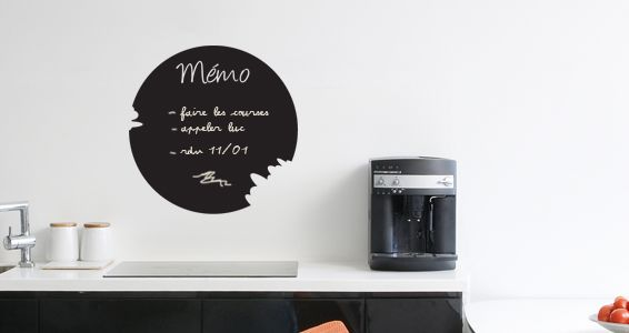 sticker ardoise m mo tableau noir ardoise parement. Black Bedroom Furniture Sets. Home Design Ideas