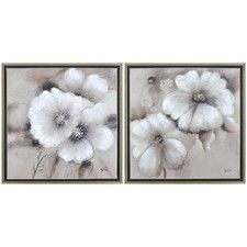 Fleur by Giovanni Russo 2 Piece Framed Painting Print on Canvas Set
