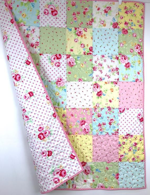 Photo of Baby girl Quilt, Floral baby bedding, Girl crib Quilt, Baby girl gift, Floral crib Quilt, Pink nursery Quilt, Baby girl crib Quilt.