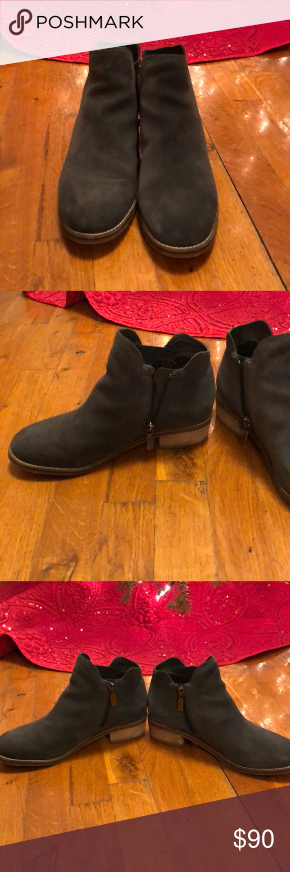 2deeb895d8a Blondo Lanka Waterproof Ankle Boot in Dark Grey Waterproof boot from Blondo  in Dark Grey Suede. Extremely warm and comfortable. Worn less than 5 times.