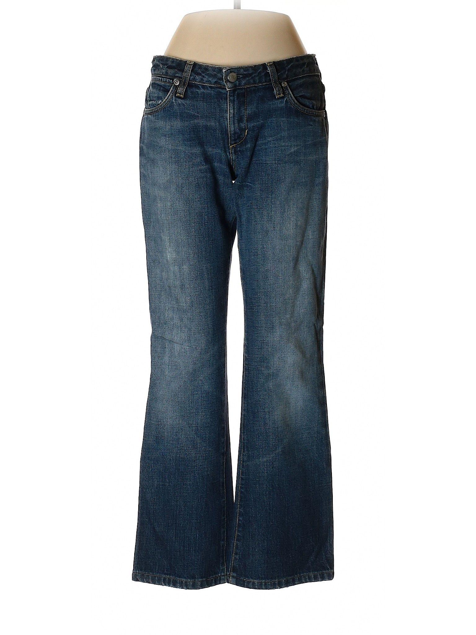 Paper Denim Cloth Jeans Low Rise Blue Bottoms Size 25 Second Hand Clothes Womens Jeans Bootcut Clothes