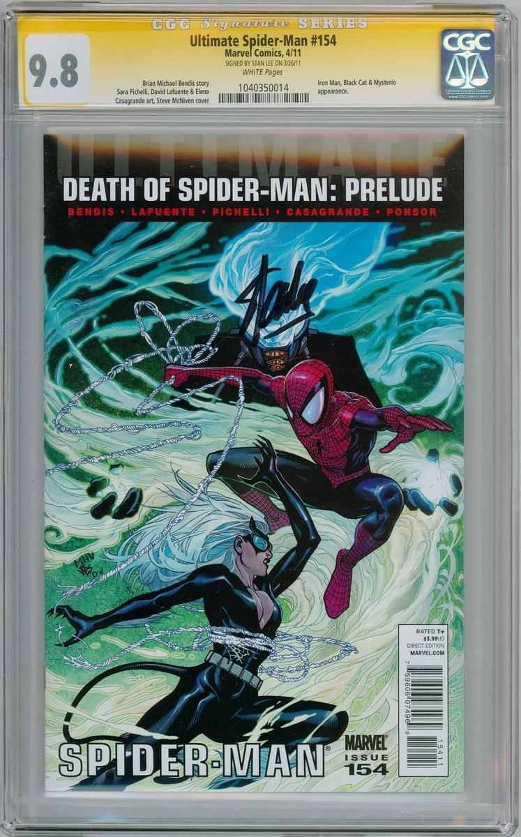 Ultimate Spider Man 154 Cgc 9 8 Signature Series Signed Stan Lee Marvel Comics Ebay Ultimate Spider Man Marvel Comics Verwonderd