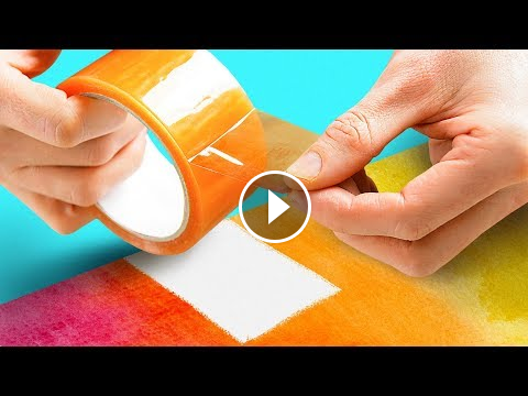 12 Magical Art Techniques 5 Minute Crafts 5 Minute Crafts Kids Diy Do It Yourself Crafts Useful Things Lifehacks Tric Magical Art Art Techniques Cool Paintings