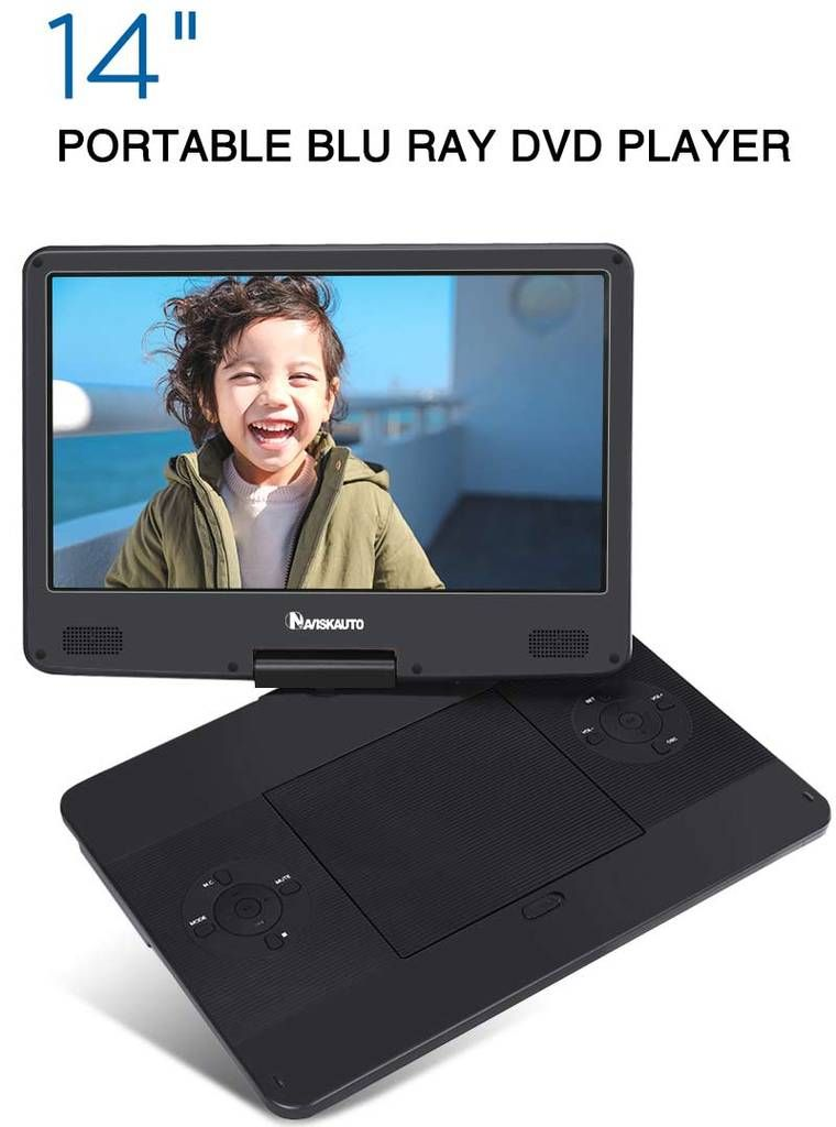 14 Inch Blu Ray Dvd Player Battery Operated Portable Dvd Player With Full Hd 1080p Blue Ray Disc For Car