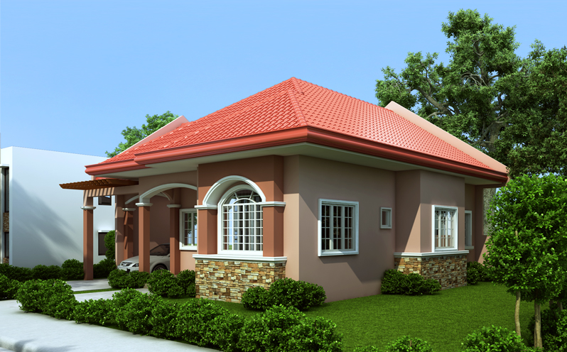 Small House Plan Designed To Be Build In 70 Square Meters My Home My Zone In 2020 One Storey House Simple House Design House Roof Design