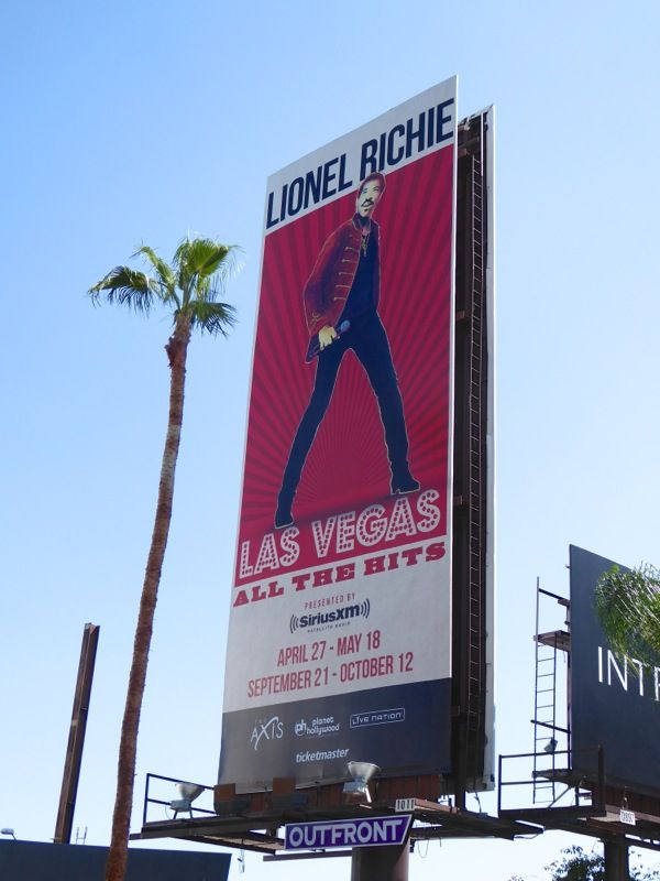 Lionel Richie Las Vegas All the Hits billboard
