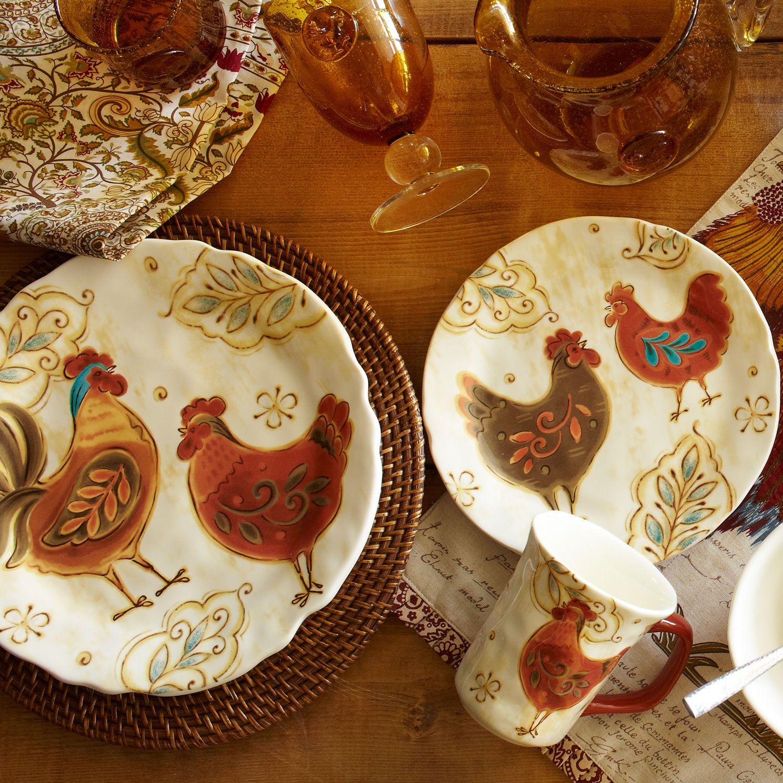 Gallo dinnerware gallos vajilla r stica cer mica y cocinas - Vajilla rustica ...