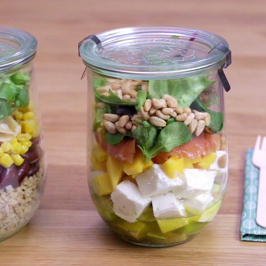 Trio de salades en bocaux Envie de bien manger ? C