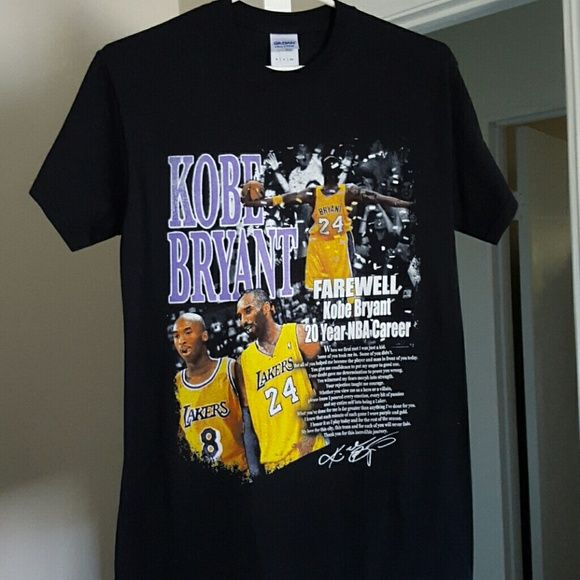Kobes Farewell shirt Black and new.. Tops Tees - Short Sleeve