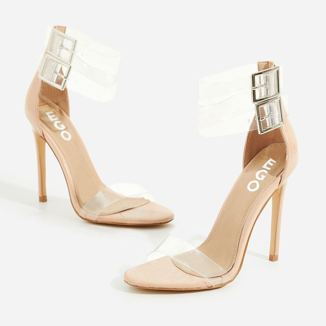 d9fb404a213 Add a sassin  touch to your shoedrobe with the Winnie nude patent heels.  With