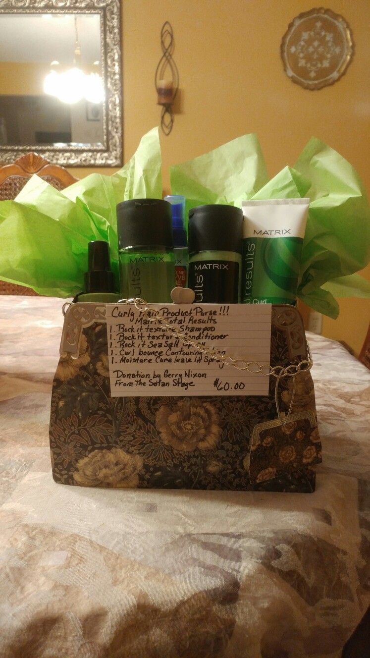 Small hair care basket for a fundraiser!