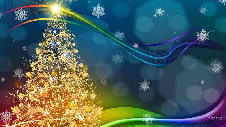 Fondo Escritorio Nevada Navideña: Navidad Copos De Nieve Arbol
