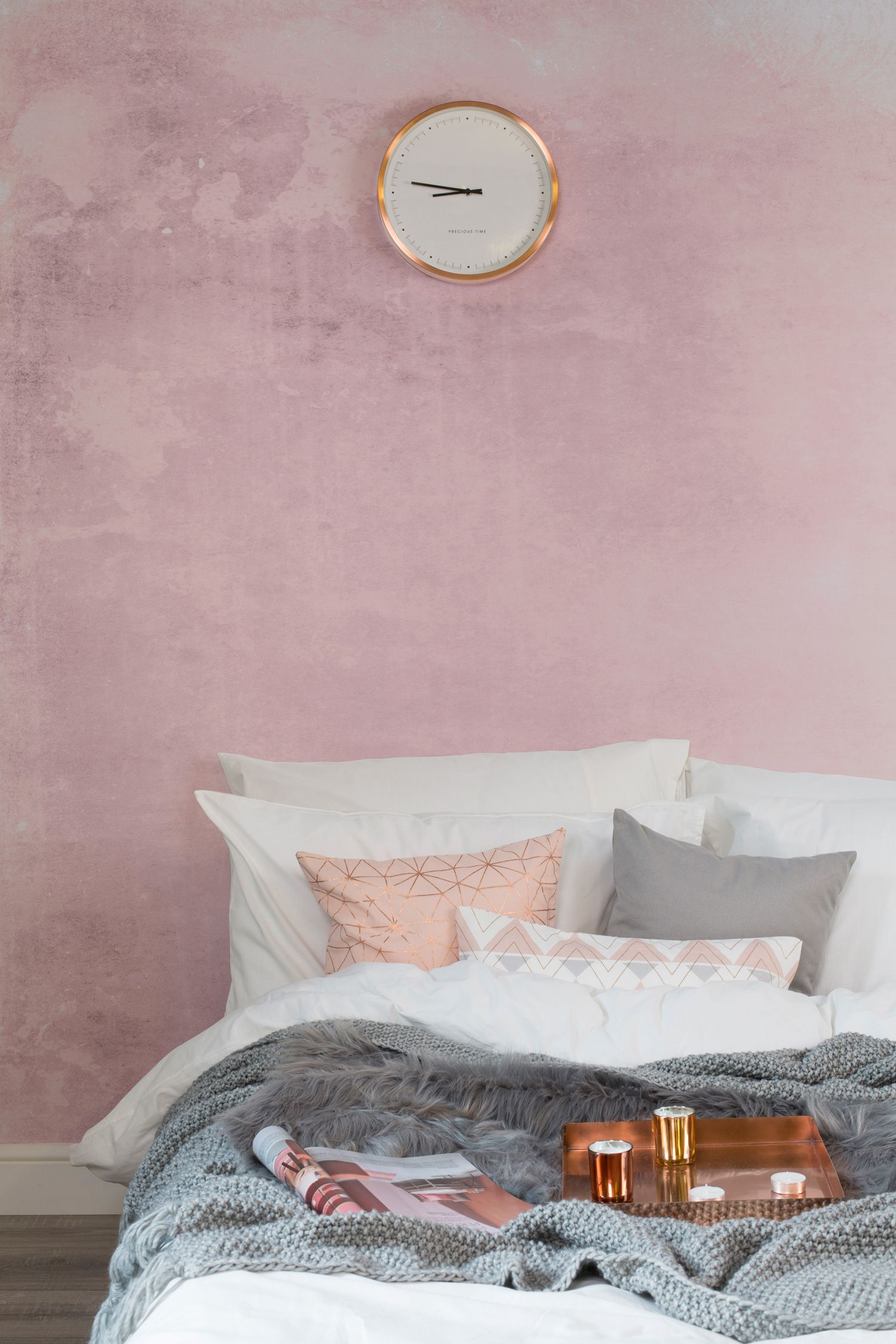 Best Pink Grunge Watercolour Wallpaper Mural In 2019 Pink 400 x 300