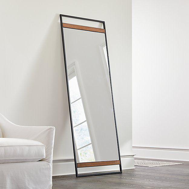 Knox Black Framed Floor Mirror Crate Barrel Floor Mirror Over The Door Mirror Flooring