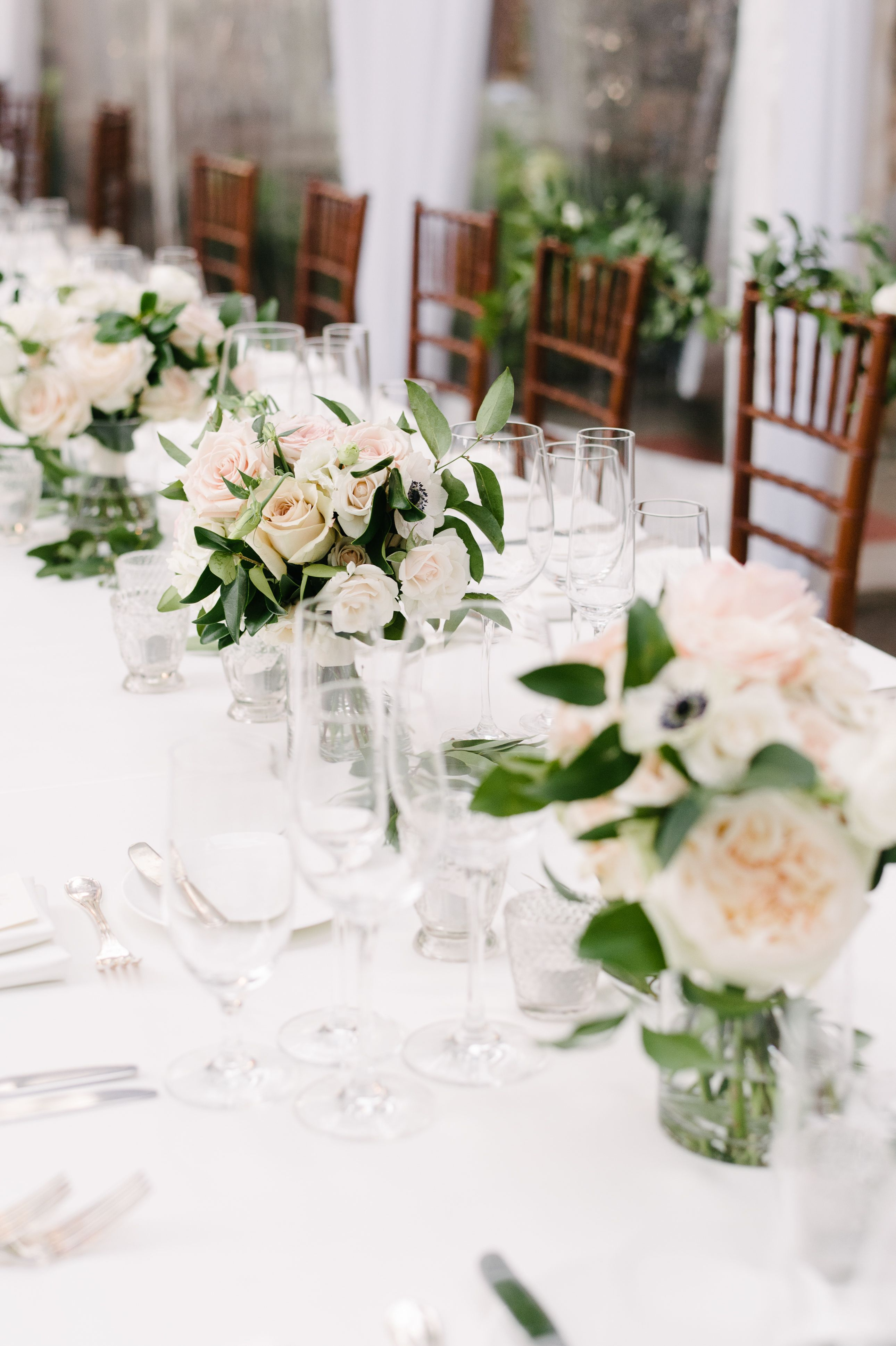 You Are Going To Love Where This Bride Got Her Wedding Inspiration Table Arrangements Wedding Wedding Flower Arrangements Table Table Flower Arrangements