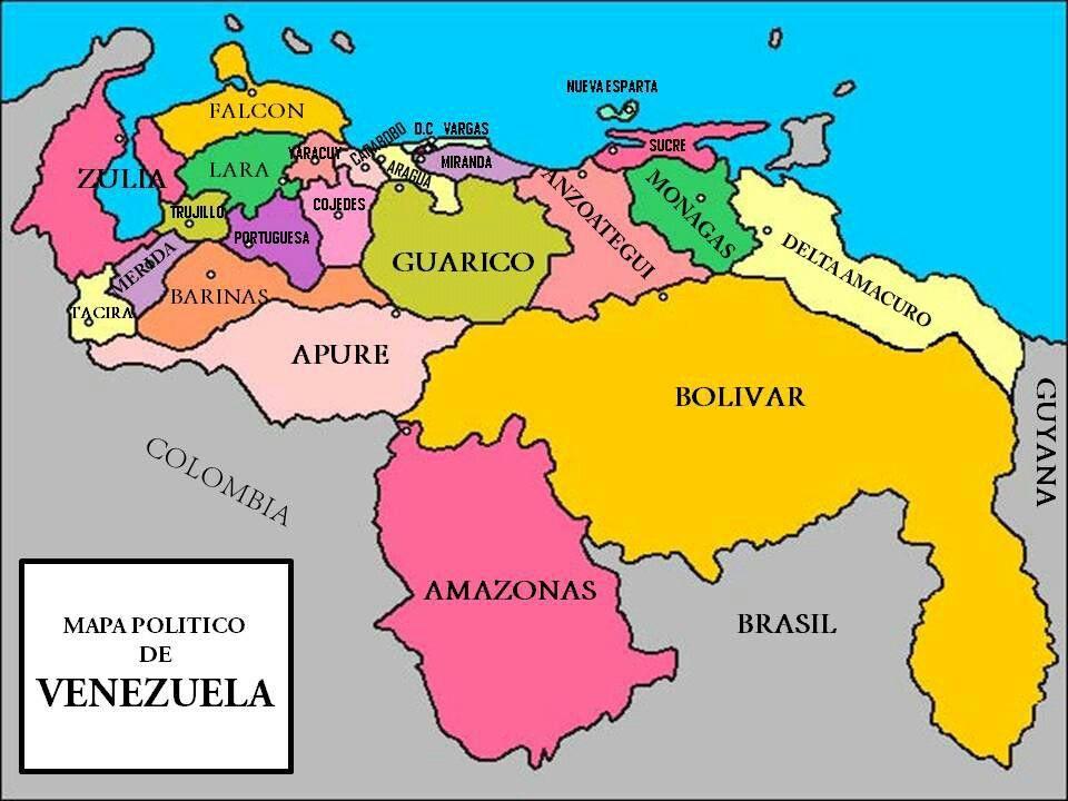 Mapa De Venezuela Presentaciones De Nuestro Planeta Globos