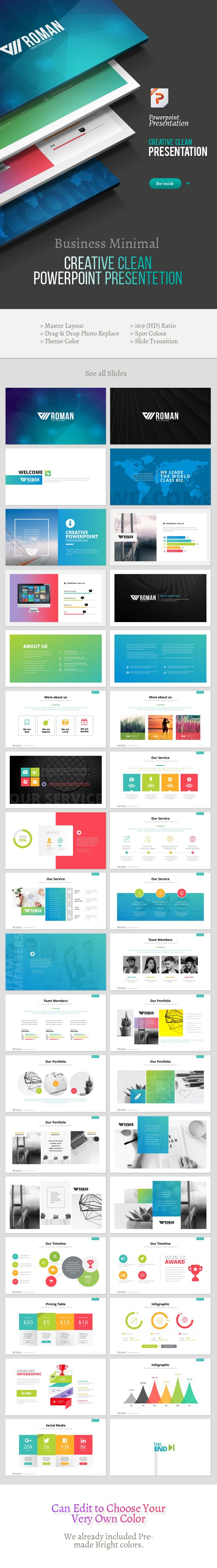 creative roman powerpoint template fonts logos icons pinterest