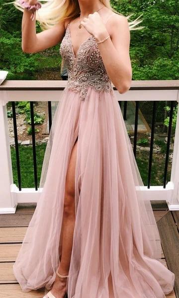 Prom Dresses with Beading Long Prom Dresses 8th Graduation Dress School Dance Winter Formal Dress YDP1040