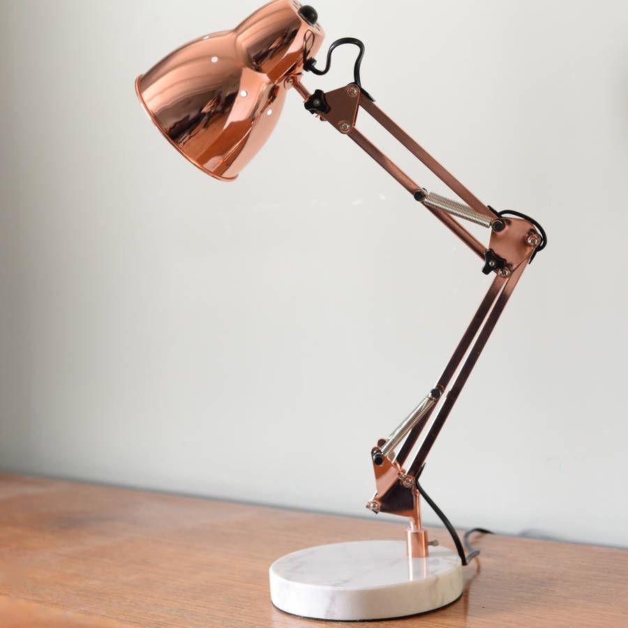 Copper Angled Table Lamp In 2019 Loft Room Desk Lamp