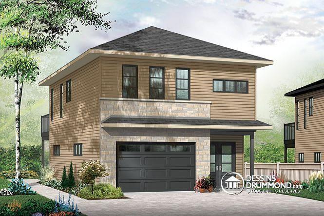 Plan de maison no W3954-V2 de dessinsdrummond Garage