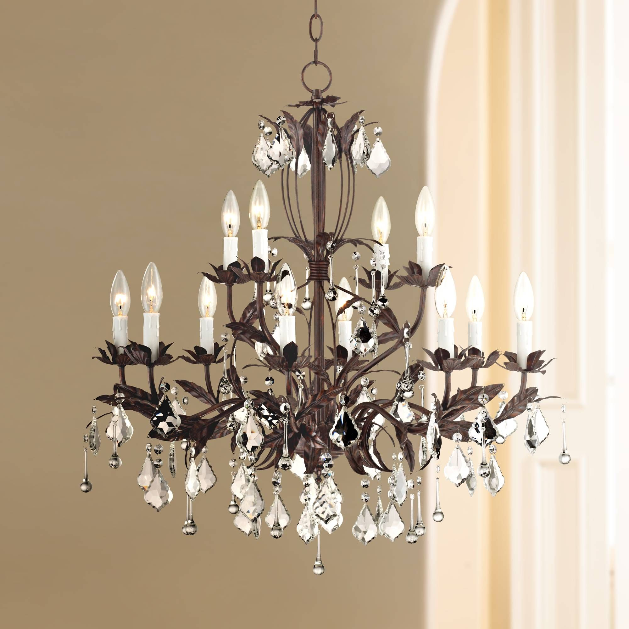 Kathy Ireland Venezia 12 Light 28 Wide Bronze Chandelier X4971 Lamps Plus