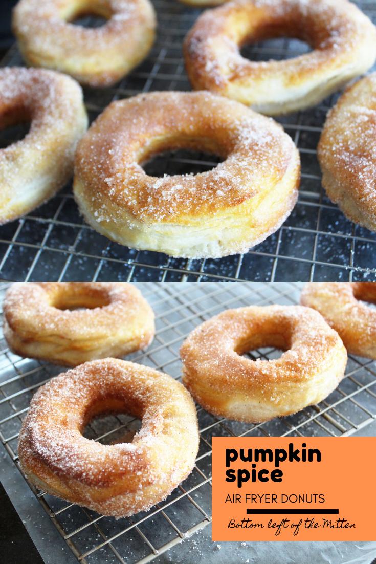 Pumpkin Spice Air Fryer Donuts Recipe Best breakfast