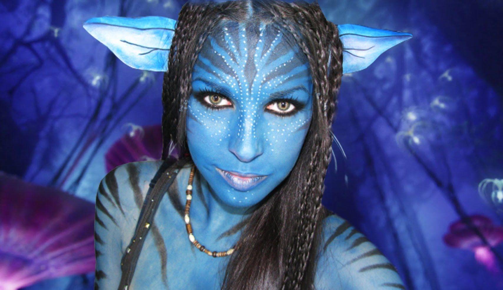 Maquillaje avatar Avatar makeup Virii Pinterest Halloween