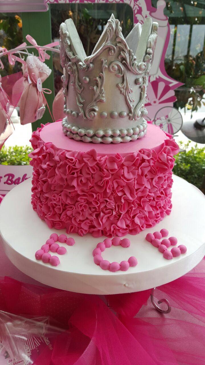 babyshower cake, babyshower pastası, baby shower, crown ...