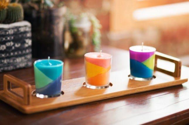 Como hacer del bloque del color de Lápices Velas