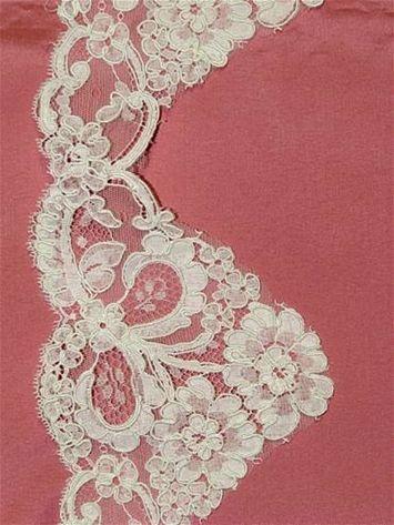 PB54165 Lt. Ivory Alencon Lace Trim - Bridal Fabric by the Yard