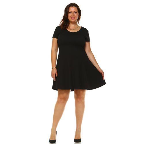 White Mark Plus Size Cara Dress - Sears | outfits | Dresses, Plus ...