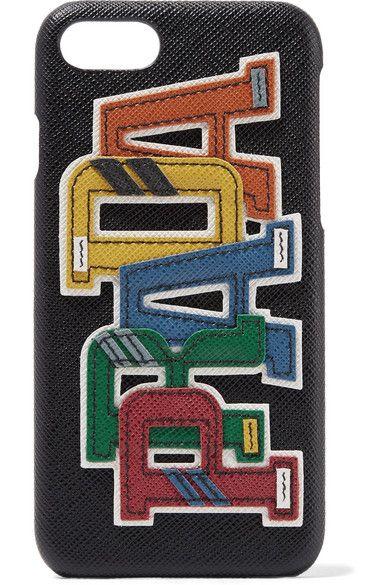 8881fca7980e Prada - Appliquéd textured-leather iPhone 7 case | Products | Iphone ...