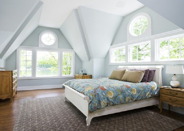 Neutral White Paint Colors Attic Master Bedrooms - Your Home Design (shared  via SlingPic)
